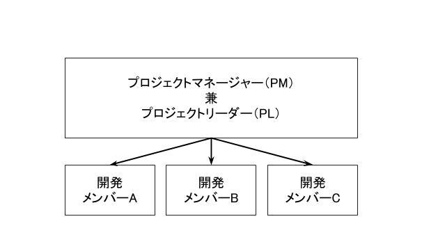 小規模プロジェクトの体制図例