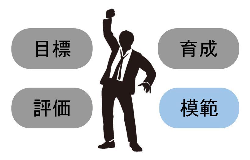 管理職が果たすべき役割④:部下の模範になる