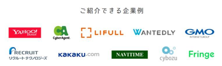 レバテックルーキーの主な提携企業